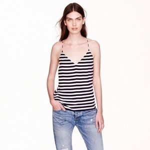 Jcrew silk Carrie cami in stripe 2